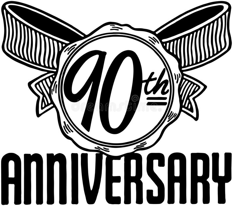 90th Anniversary vector illustration