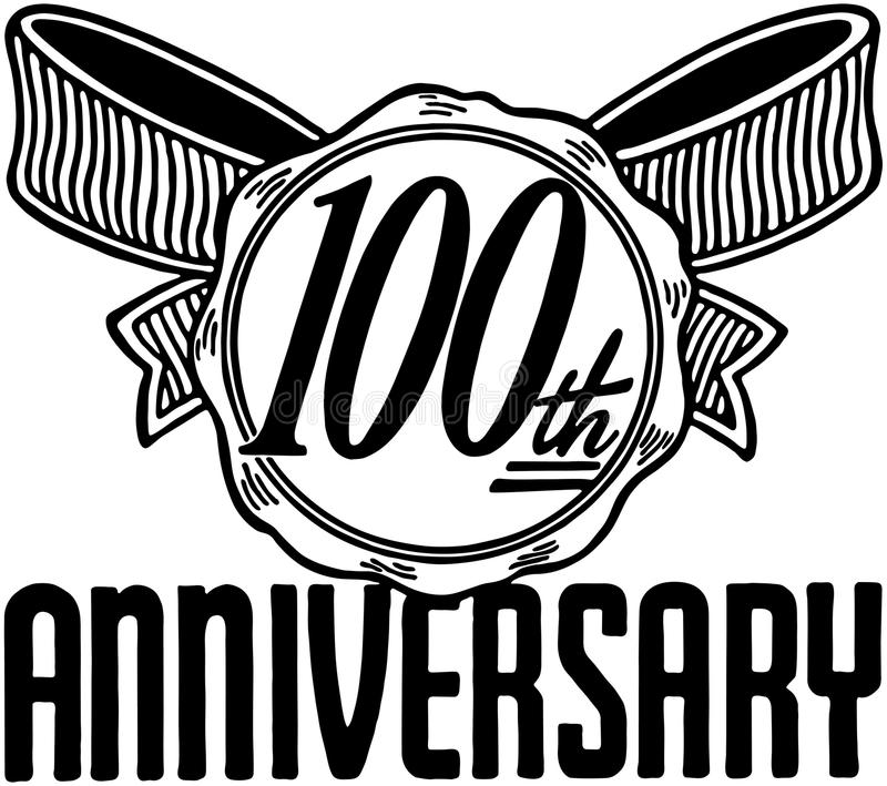 100th Anniversary stock illustration