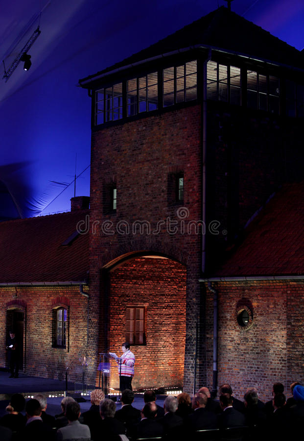 70th anniversary of Auschwitz liberation royalty free stock photography