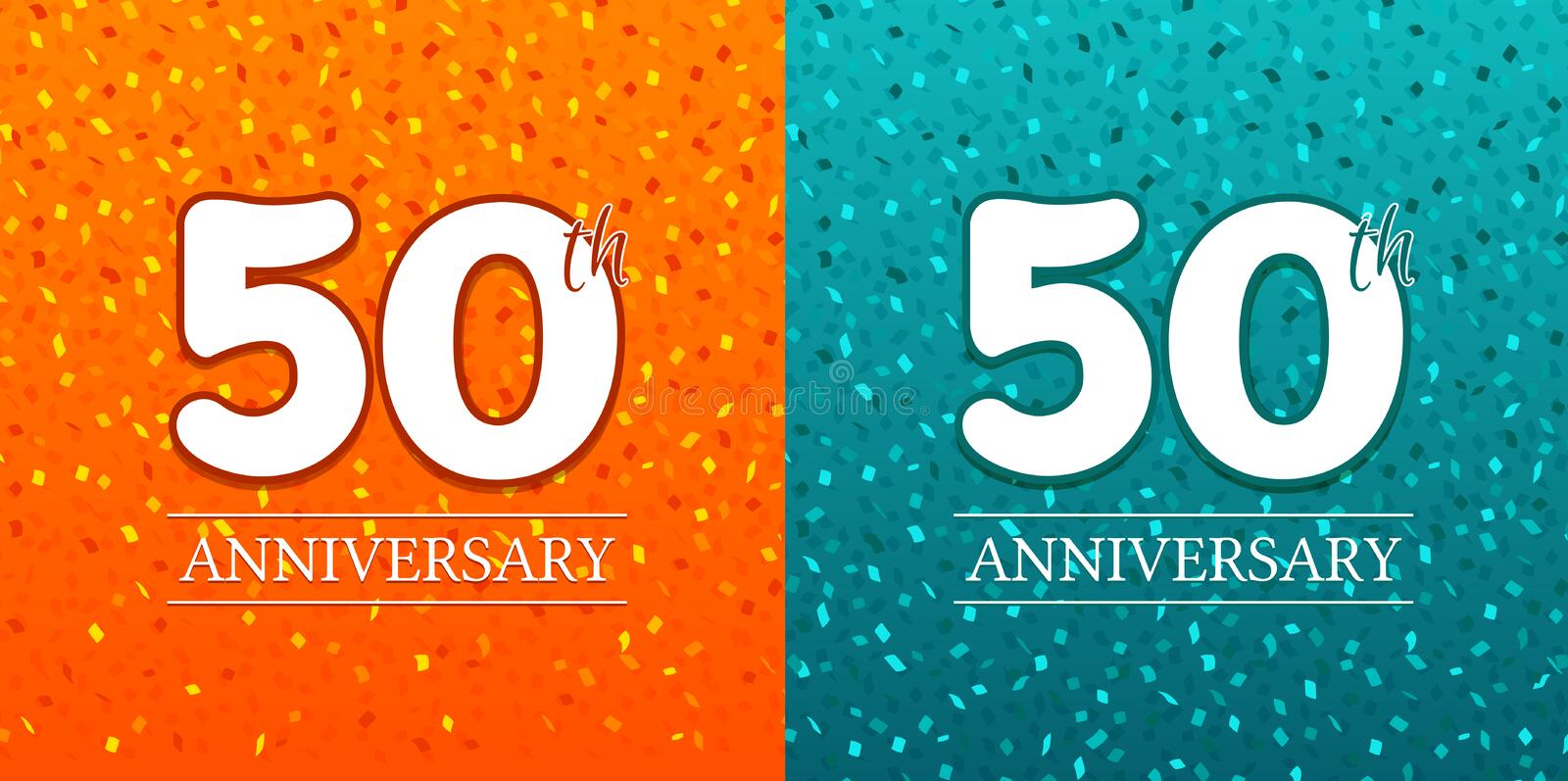 50th Anniversary Background - 50 years Celebration. Birthday Eps10 Vector.  stock illustration