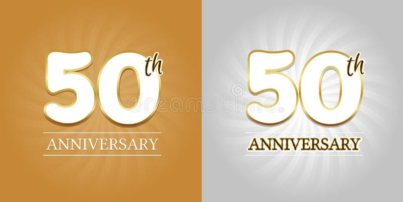 50th anniversary background 50 years celebration gold and silver