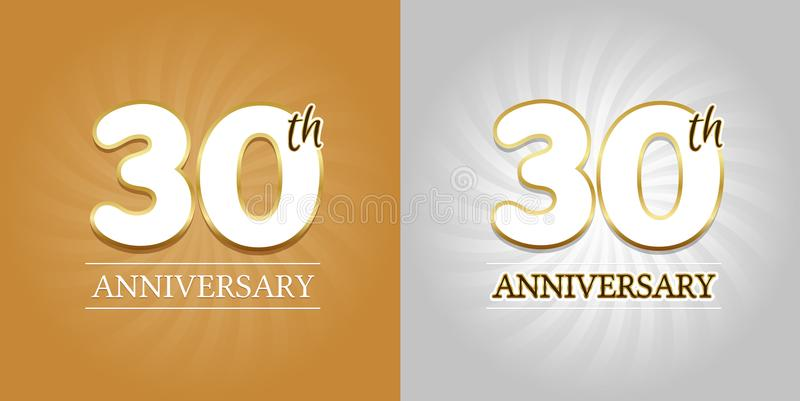 30th anniversary background 30 years celebration gold and silver
