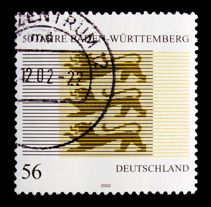 50th Anniversary of Baden-Wurttemburg State, serie, circa 2002. MOSCOW, RUSSIA - OCTOBER 21, 2017: A stamp printed in German Federal Republic shows devoted to stock photography