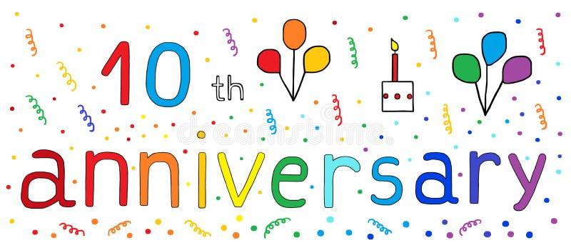 10 th anniversary celebration vector illustration