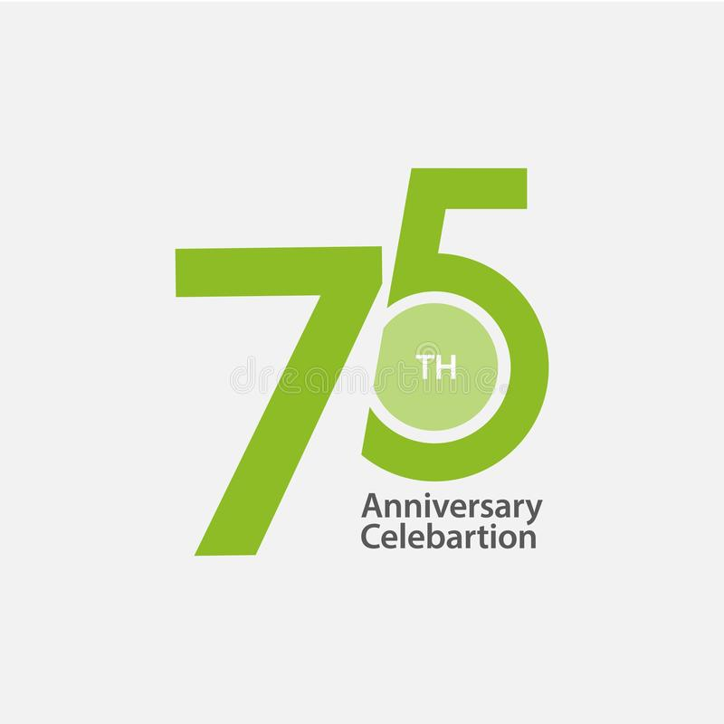 75 th Anniversary Celebration Vector Template Design Illustration. 75th logo years birthday symbol number icon emblem background jubilee element wedding card vector illustration