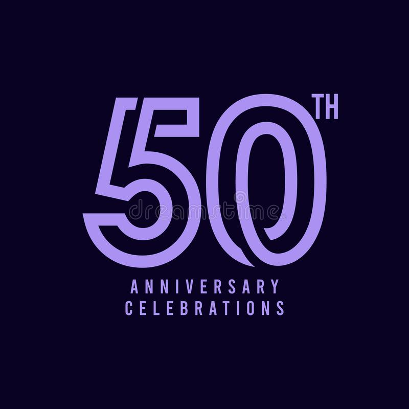 50 Th Anniversary Celebration Vector Template Design Illustration. 50th, years, logo, birthday, happy, number, card, icon, background, decoration, symbol royalty free illustration