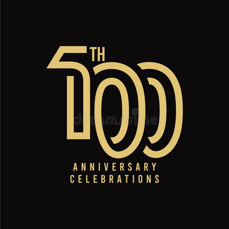 100 Th Anniversary Celebration Vector Template Design Illustration. 100th, years, logo, birthday, happy, number, card, icon, background, decoration, symbol royalty free illustration