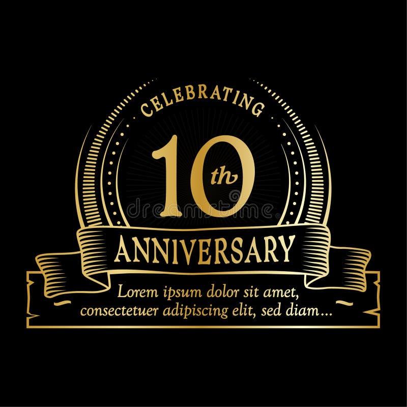 10th anniversary design template. 10 years logo. Ten years vector and illustration. vector illustration