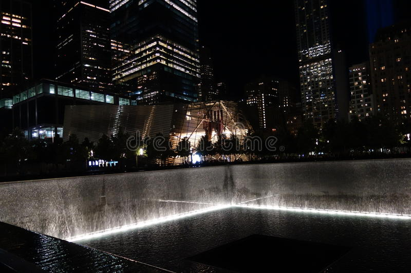 9/11 13th Anniversary @ Ground Zero 45. This photos were taken at night on the 13th Anniversary of the 9/11 terrorists attacks royalty free stock images