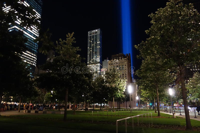 9/11 13th Anniversary @ Ground Zero 42. This photos were taken at night on the 13th Anniversary of the 9/11 terrorists attacks stock photos