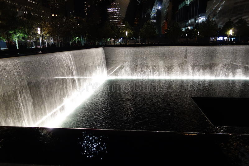 9/11 13th Anniversary @ Ground Zero 38. This photos were taken at night on the 13th Anniversary of the 9/11 terrorists attacks royalty free stock images