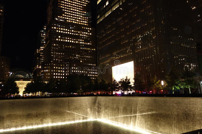 9/11 13th Anniversary @ Ground Zero 26. This photos were taken at night on the 13th Anniversary of the 9/11 terrorists attacks stock photos