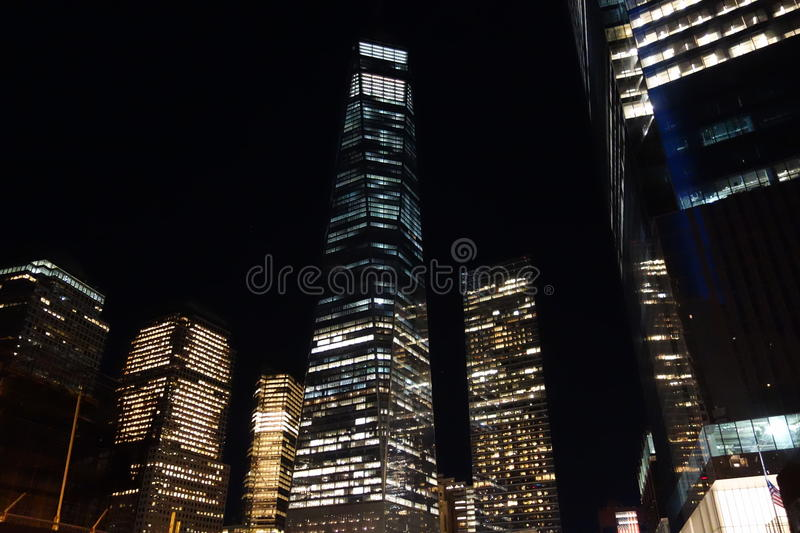 9/11 13th Anniversary @ Ground Zero 3. This photos were taken at night on the 13th Anniversary of the 9/11 terrorists attacks stock photography
