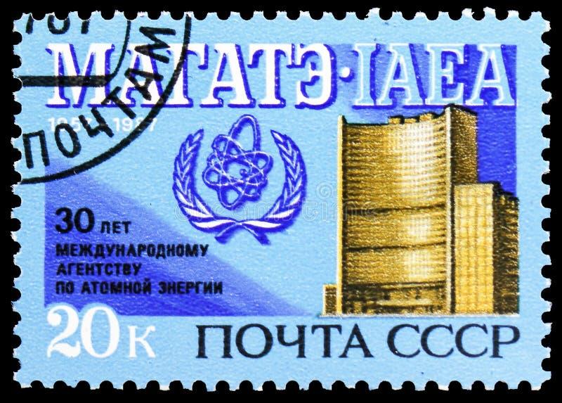 30th Anniversary of International Atomic Energy Agency, circa 1987 stock photography