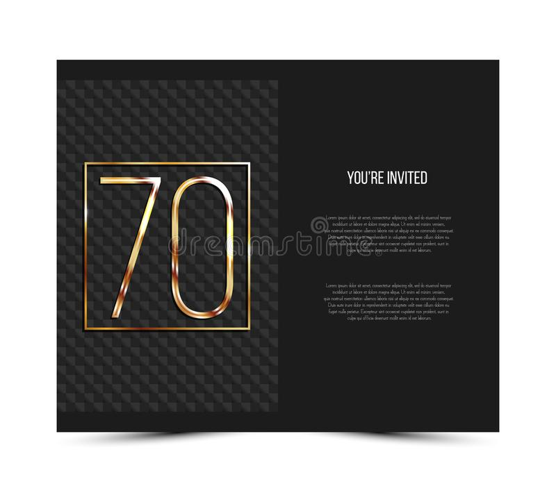 70th anniversary invitation card template vector illustration download 70th anniversary invitation card template vector illustration stock vector illustration of jubilee stopboris Choice Image