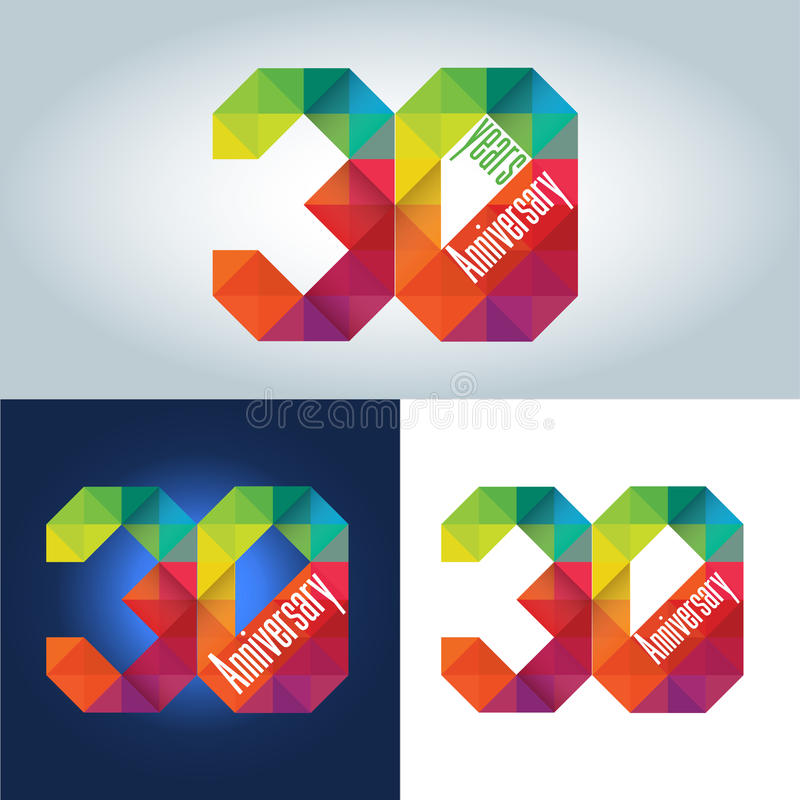 30th Anniversary Logo royalty free illustration