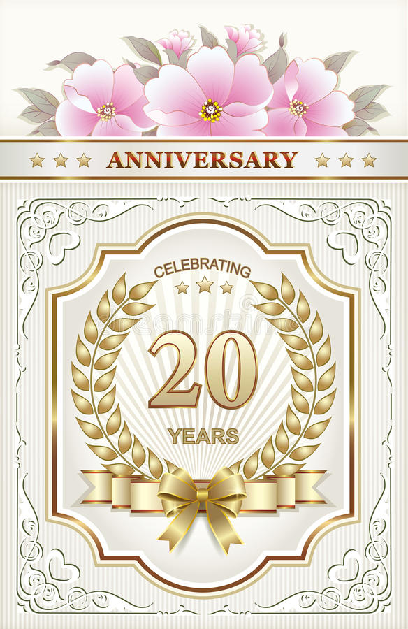 20th wedding anniversary flower 20th anniversary stock vector illustration of happy 1061