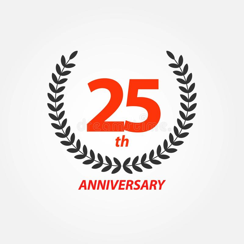 25th Anniversary Vector Template Design Illustration stock illustration