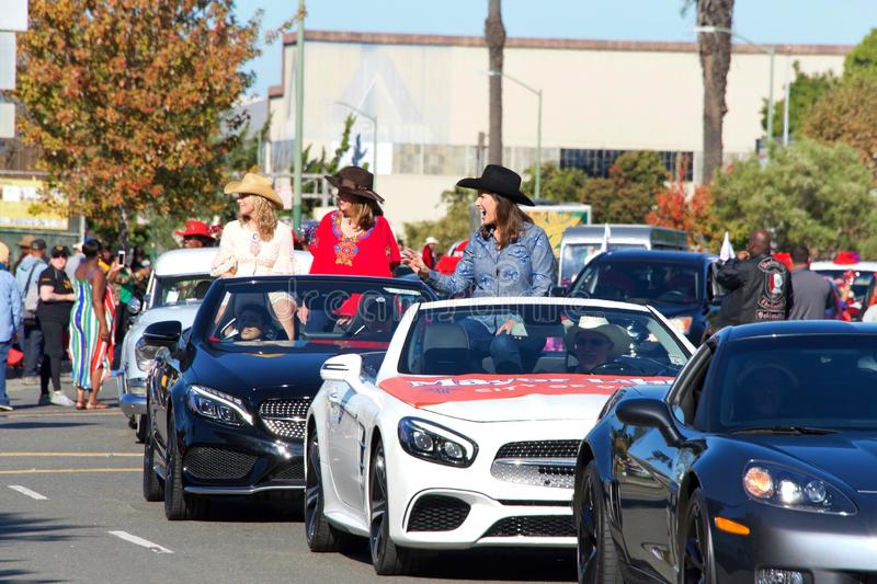 45th annual Black Cowboy Parade and Festival in Oakland, CA stock image