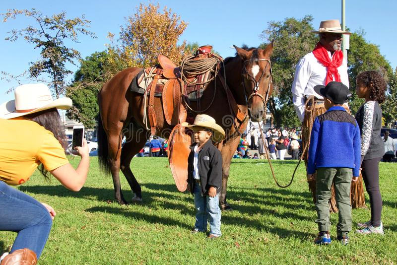 45th annual Black Cowboy Parade and Festival in Oakland, CA royalty free stock photo