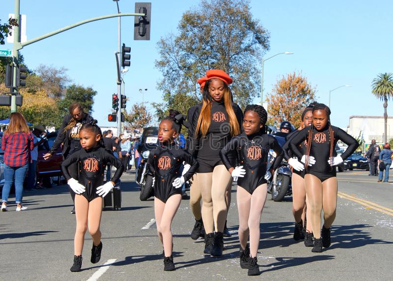 45th annual Black Cowboy Parade and Festival in Oakland, CA royalty free stock photos
