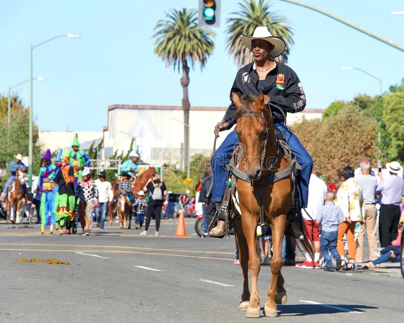 45th annual Black Cowboy Parade and Festival in Oakland, CA royalty free stock images