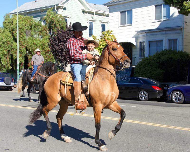 45th annual Black Cowboy Parade and Festival in Oakland, CA royalty free stock photography