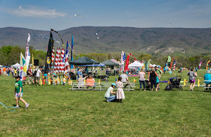 19th Annual Blue Ridge Kite Festival royalty free stock photography