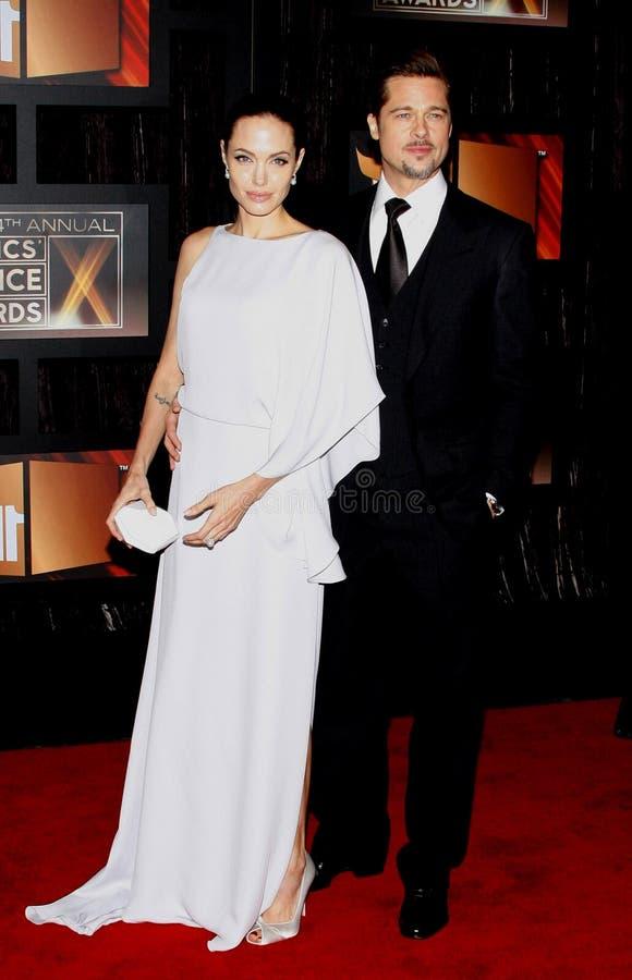 14th Annual Critics` Choice Awards. Angelina Jolie and Brad Pitt at the 14th Annual Critics` Choice Awards held at the Santa Monica Civic Center in Santa Monica stock photography