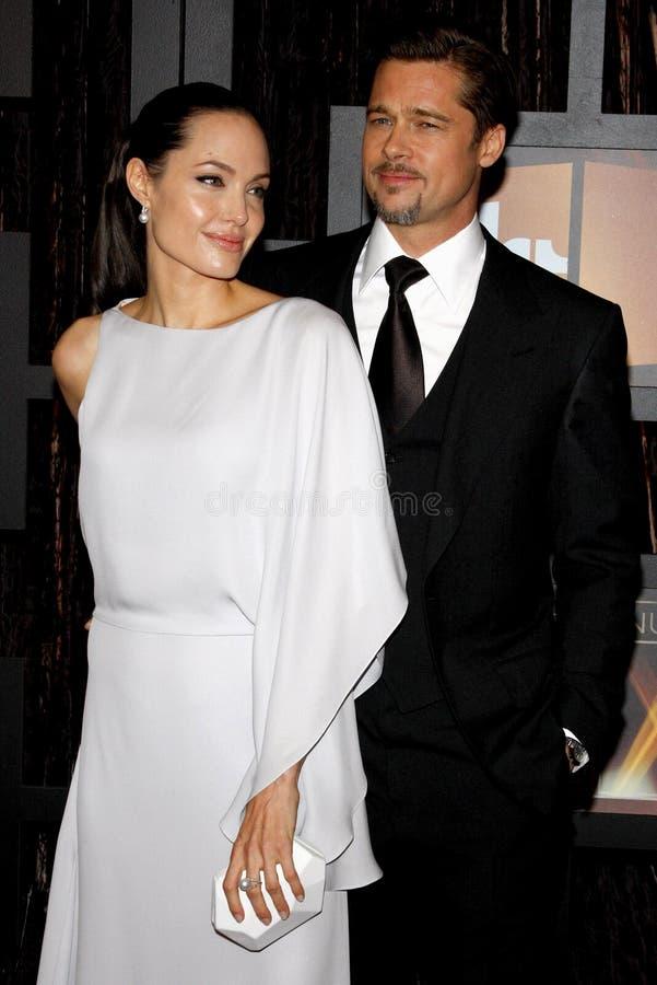 14th Annual Critics` Choice Awards. Angelina Jolie and Brad Pitt at the 14th Annual Critics` Choice Awards held at the Santa Monica Civic Center in Santa Monica royalty free stock photography