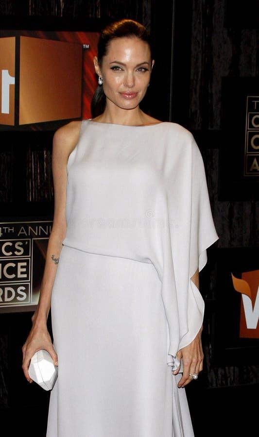 14th Annual Critics` Choice Awards. Angelina Jolie at the 14th Annual Critics` Choice Awards held at the Santa Monica Civic Center in Santa Monica on January 8 stock photo