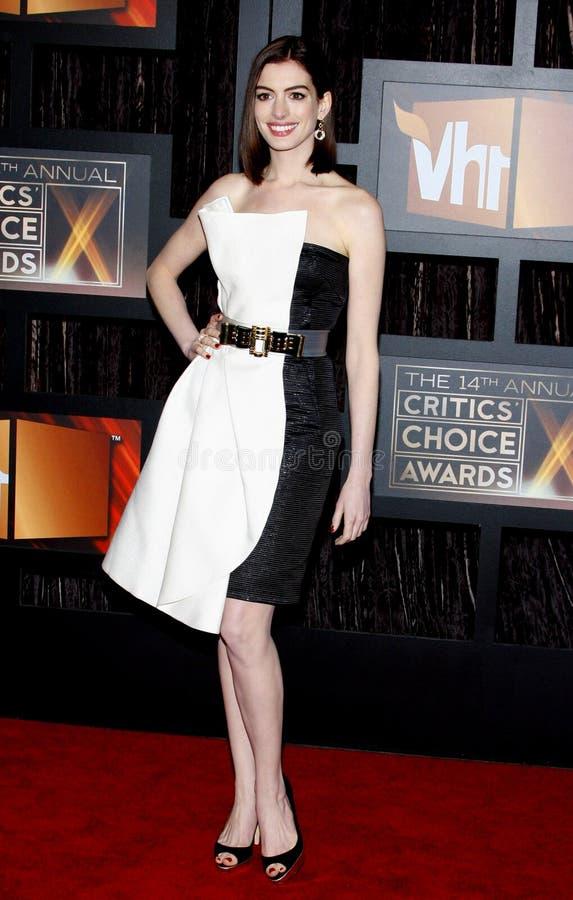 14th Annual Critics` Choice Awards. Anne Hathaway at the 14th Annual Critics` Choice Awards held at the Santa Monica Civic Center in Santa Monica on January 8 stock photo