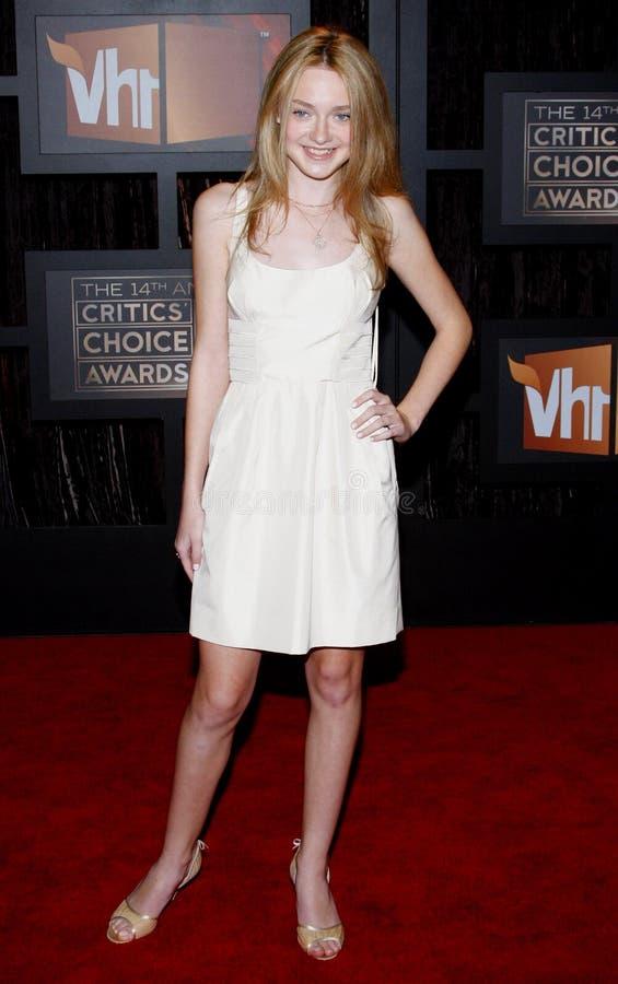 14th Annual Critics` Choice Awards. Dakota Fanning at the 14th Annual Critics` Choice Awards held at the Santa Monica Civic Center in Santa Monica on January 8 stock images