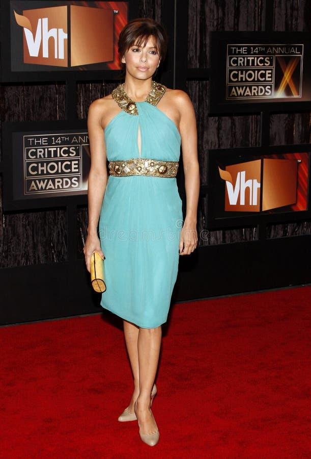 14th Annual Critics` Choice Awards. Eva Longoria at the 14th Annual Critics` Choice Awards held at the Santa Monica Civic Center in Santa Monica on January 8 royalty free stock photo