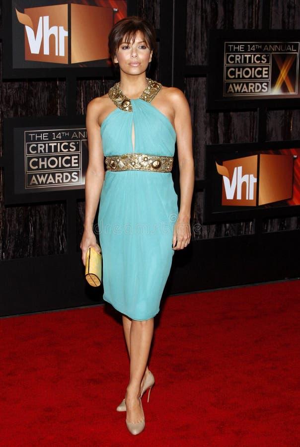 14th Annual Critics` Choice Awards. Eva Longoria at the 14th Annual Critics` Choice Awards held at the Santa Monica Civic Center in Santa Monica on January 8 royalty free stock photography