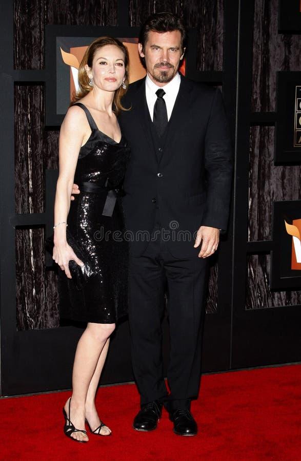 14th Annual Critics` Choice Awards. Josh Brolin and Diane Lane at the 14th Annual Critics` Choice Awards held at the Santa Monica Civic Center in Santa Monica on royalty free stock image