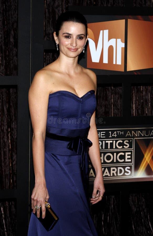 14th Annual Critics` Choice Awards. Penelope Cruz at the 14th Annual Critics` Choice Awards held at the Santa Monica Civic Center in Santa Monica on January 8 stock images