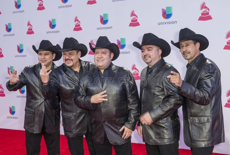 The 16th Annual Latin GRAMMY Awards. LAS VEGAS , NOV 19 : Musical group, Grupo Pesado attends the 16th Annual Latin GRAMMY Awards on November 19 2015 at the MGM royalty free stock photos