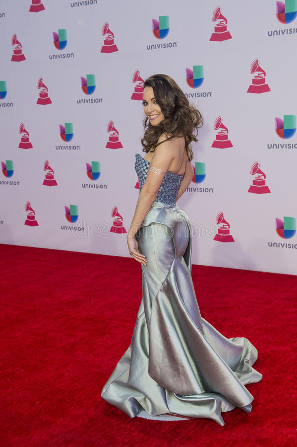The 16th Annual Latin GRAMMY Awards. LAS VEGAS , NOV 19 : Recording artist Leslie Cartaya attends the 16th Annual Latin GRAMMY Awards on November 19 2015 at the royalty free stock image