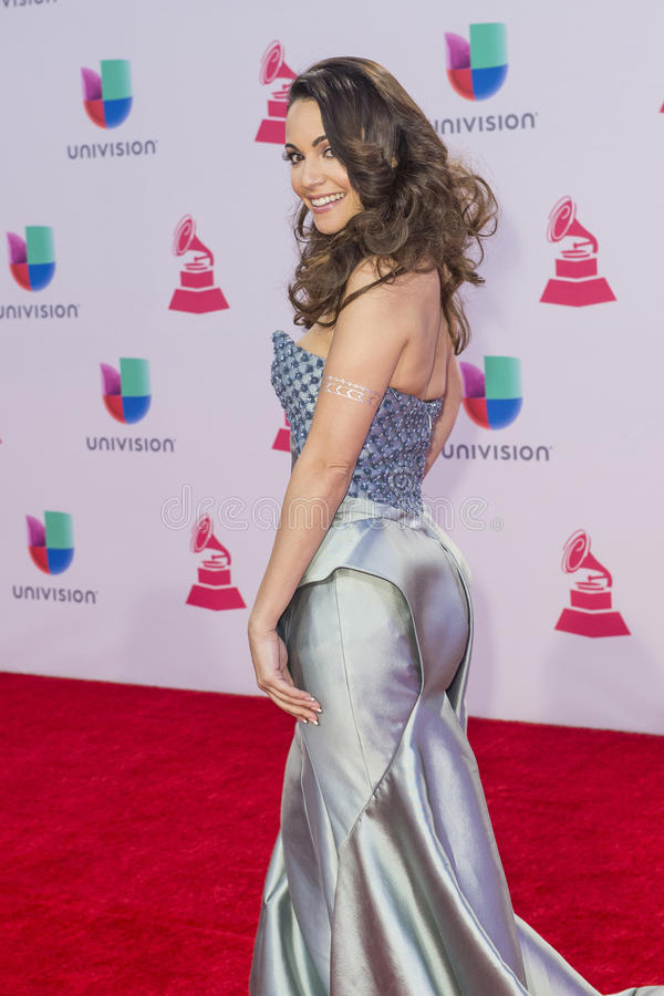 The 16th Annual Latin GRAMMY Awards. LAS VEGAS , NOV 19 : Recording artist Leslie Cartaya attends the 16th Annual Latin GRAMMY Awards on November 19 2015 at the royalty free stock photos