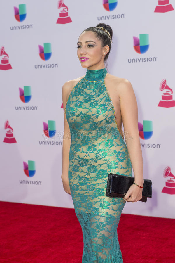 The 16th Annual Latin GRAMMY Awards. LAS VEGAS , NOV 19 : Recording artist Leslie Cartaya attends the 16th Annual Latin GRAMMY Awards on November 19 2015 at the stock photos
