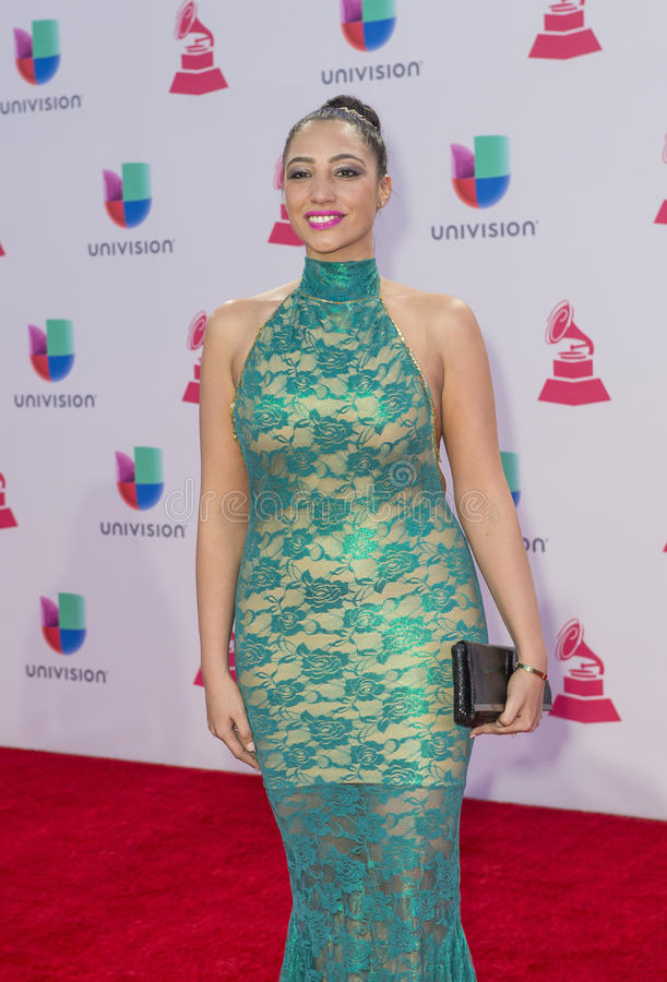 The 16th Annual Latin GRAMMY Awards. LAS VEGAS , NOV 19 : Recording artist Leslie Cartaya attends the 16th Annual Latin GRAMMY Awards on November 19 2015 at the stock images