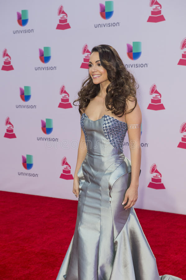 The 16th Annual Latin GRAMMY Awards. LAS VEGAS , NOV 19 : Recording artist Leslie Cartaya attends the 16th Annual Latin GRAMMY Awards on November 19 2015 at the stock photography