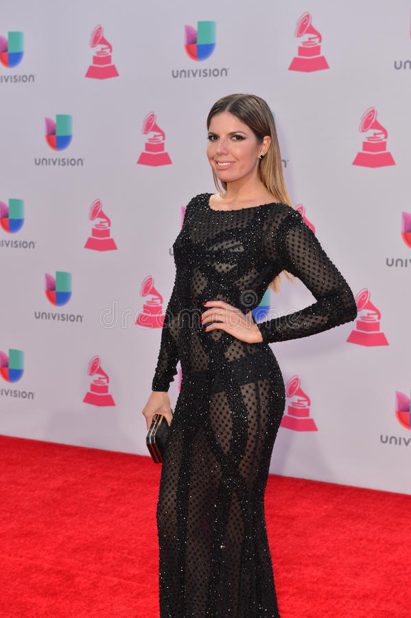 The 16th Annual Latin GRAMMY Awards. LAS VEGAS , NOV 19 : TV personality Fernanda Kelly attends the 16th Annual Latin GRAMMY Awards on November 19 2015 at the stock photo