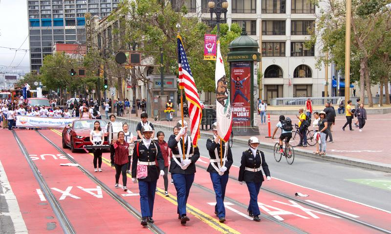 26th annual Pistahan Parade in Downtown San Francisco royalty free stock images