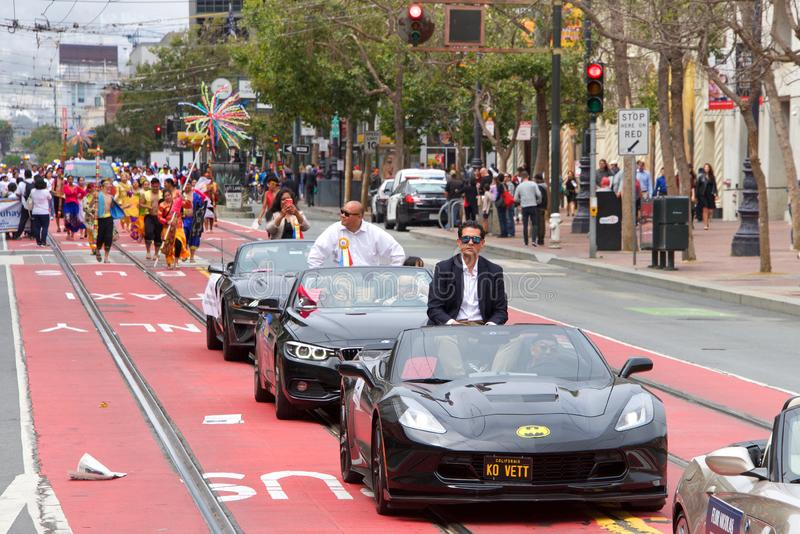 26th annual Pistahan Parade in Downtown San Francisco stock image
