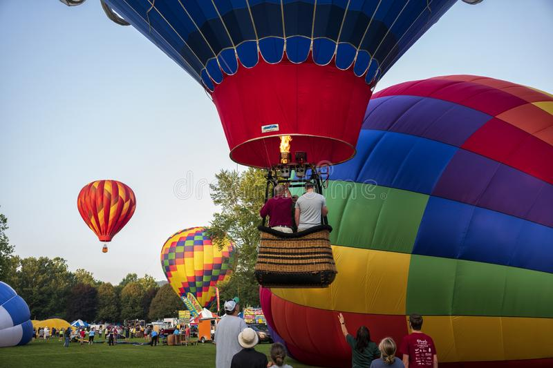 35th annual Spiedie Fest and Balloon Rally Expo, Inc royalty free stock images