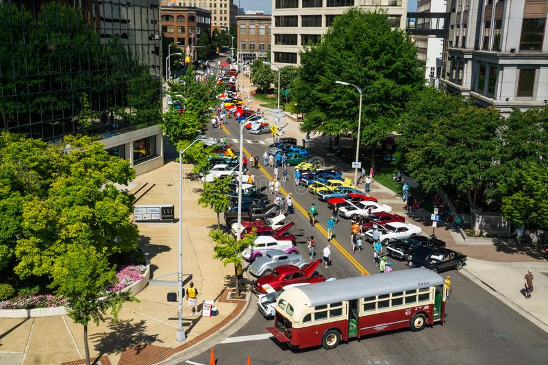The 19th Annual Star City Motor Madness. Roanoke, VA, June 29th: The Annual Star City Motor Madness Car and Truck Show located in Roanoke, Virginia, USA on June stock images