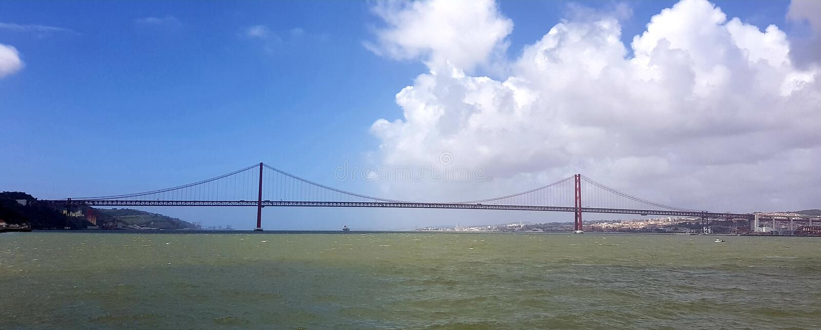 25th April Bridge in Lisbon royalty free stock image