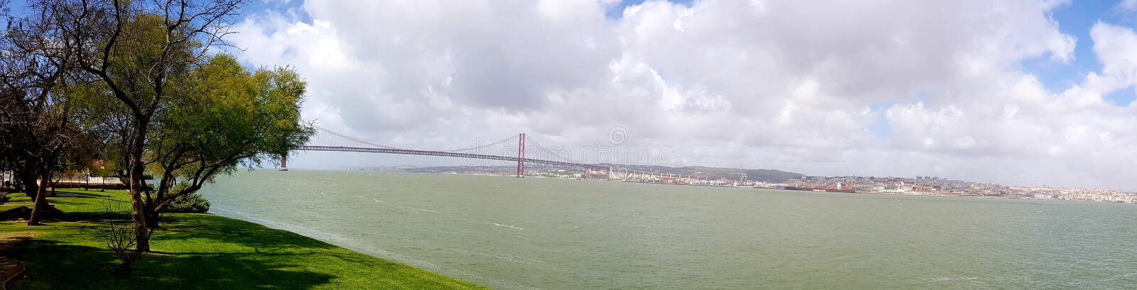 25th April Bridge in Lisbon stock photo